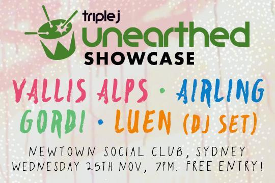 triple j Unearthed ARIA Week showcase lineup announced!