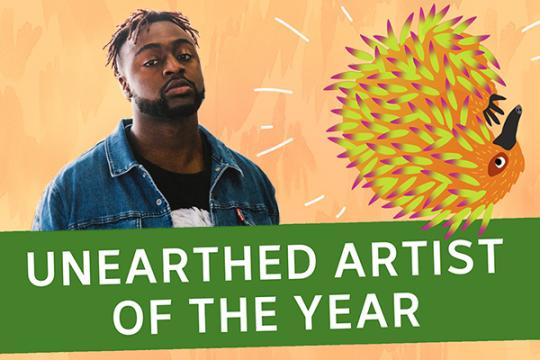 Kwame wins the 2018 Unearthed J Award!