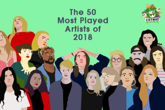 The 50 Most Played Artists on Unearthed Radio in 2018