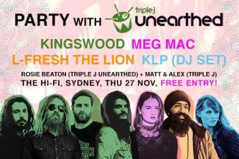 Come to the triple j Unearthed ARIA Week party!