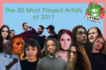 The 50 Most Played Artists of 2017!