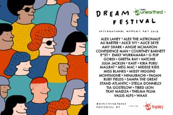 triple j Unearthed's Dream Festival for International Women's day 2019