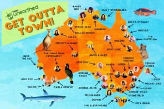 The Interactive Aus Music Map!