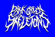 dark green skeletons